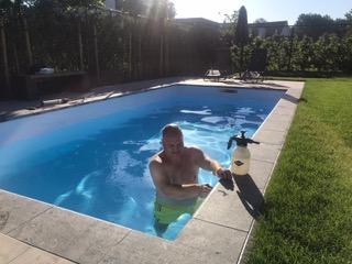 Zwembad laten kitten